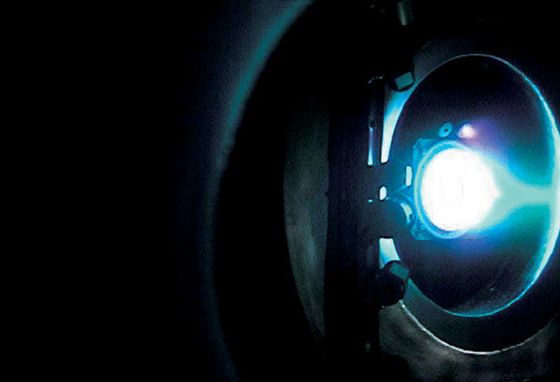 Optical emission from Smart-1 ion thruster
