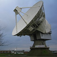 The 25 metre antenna at the Chilbolton Observatory of the Rutherford Appleton Laboratory