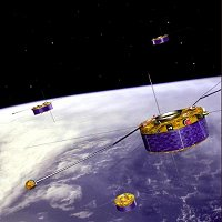 Artist's impression of ESA's Cluster spacecraft