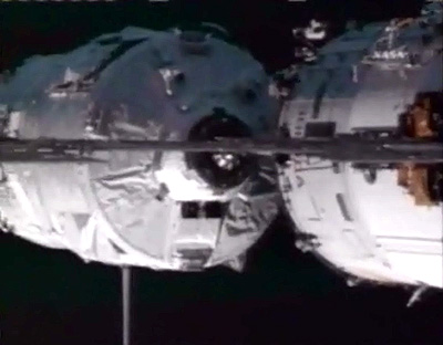 ATV First ISS docking