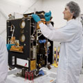 Proba-2 in the cleanroom at Verhaert Space shortly before shipme