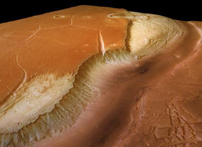 Kasei Valles, perspective view