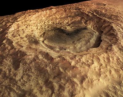 Cratère Maunder en perspective