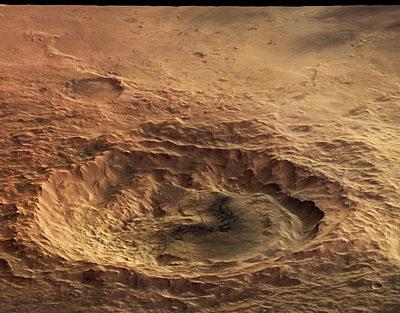 Maunder crater en perspective