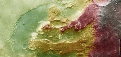 Le cratère Terby photographié par la sonde Mars Express
