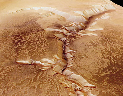 Perspective view of Echus Chasma