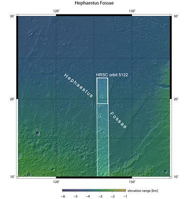 Context map of Hephaestus Fossae