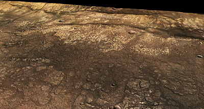 Close to Ma'adim Vallis, perspective view