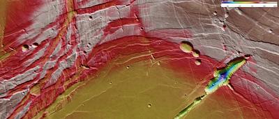 Elevation of Phoenicis Lacus region on Mars