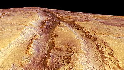 Profundas grietas en la corteza de Marte