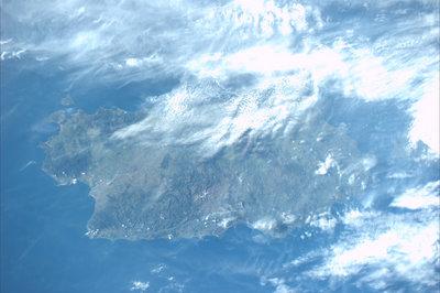 Sardinia as sen from ISS