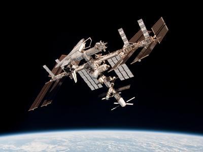 ISS as seen from Soyuz TMA-20