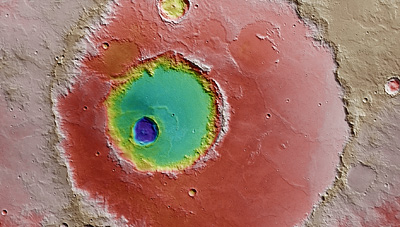 Topographical view of Hadley crater