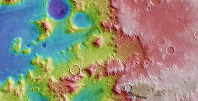 Højde-kort over Argyre bassinet