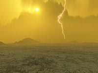 Artist's concept of lightning on Venus