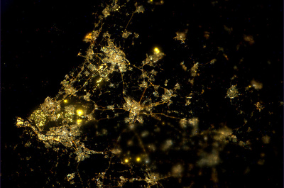 The Netherlands at night