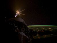 Breath of the dragon as ESA's ATV Amaldi nears the ISS