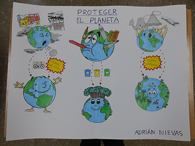 We then have a great drawing from adrian showing how we can help to make our planet healthier