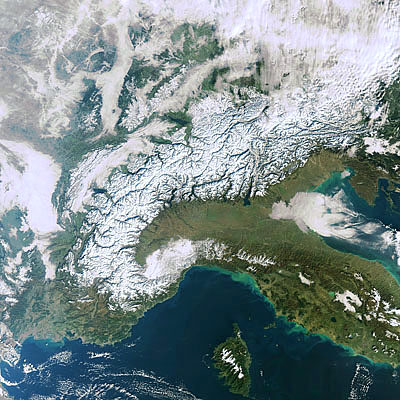 Snow-kissed Alps