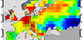 verage satellite carbon dioxide concentrations over Europe