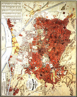 Historical map of Cairo dating back to 1874