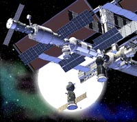 Artist's impression showing ISS