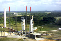 Ariane 5G, atop its mobile launch platform