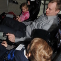 Esa with his family in the Sojuz simulator