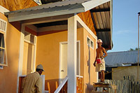 New housing in the town of Sigli, Indonesia, built by the French non-governmental organisation Emergency Architects (Architectes de l'Urgence or ADU). This fishing town was two thirds destroyed by the tsunami. ADU is helping to rebuild both homes and harbour facilities, its plan of intervention guided by satellite data.