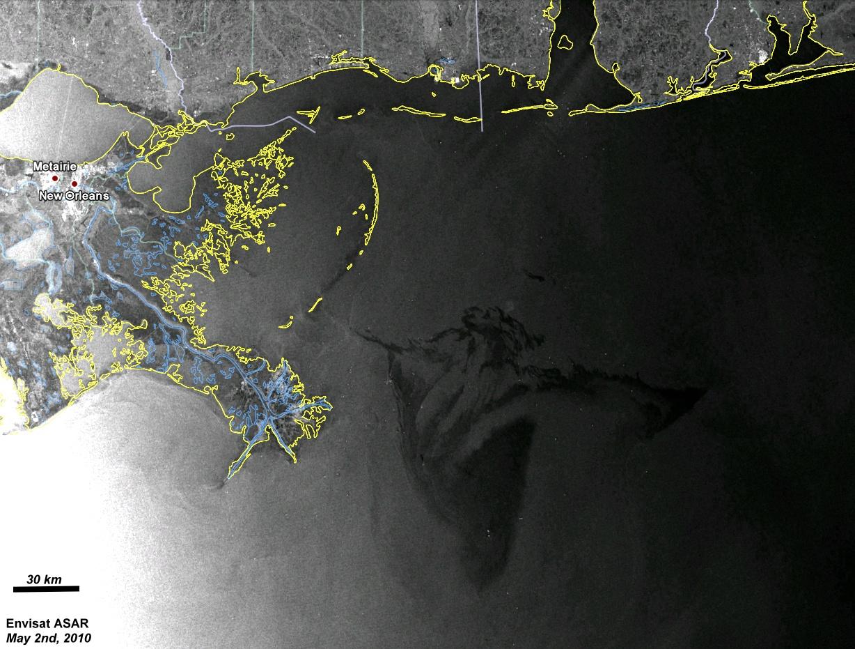 Contaminación de petróleo en el Golfo de Mexico
