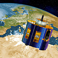 Artist's impression of Meteosat Second Generation (MSG)