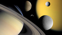 Five Saturn moons