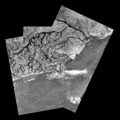 Rios y lagos de metano en Titán. Huygens/ESA