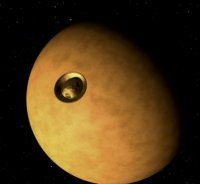 Huygens approaching Titan