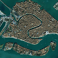 Venice, Italy, as seen from IKONOS at an altitude of 680 km
