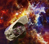 Artist impression of the Herschel spacecraft
