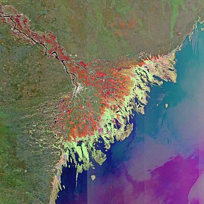 Russia's Volga Delta and the Caspian Sea
