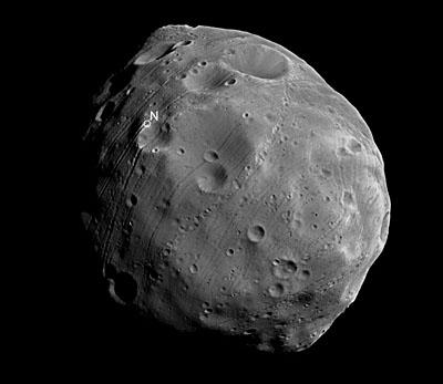 Approche de Phobos par la sonde  Mars Express