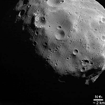 Close-up on  Phobos