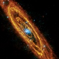 Andromeda Galaxy in infrared and X-rays image