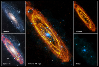 Multispectral views of Andromeda from ESA's Hershel and Newton