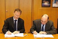 Volker Liebig dell'ESA e Enrico D'Agostino, BIC Lazio