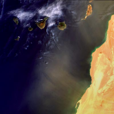 Marocco and Canary Islands, 1 March 2003