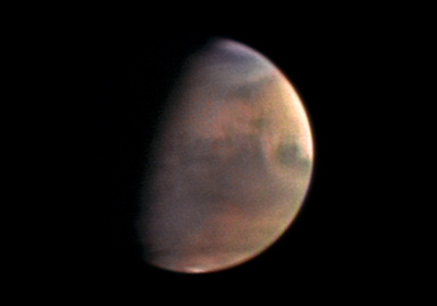 Planet Mars from 5.5 million km