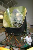 The structure of Planck's telescope undergoes vibration tests