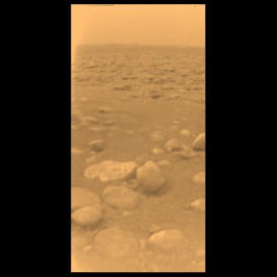 Imagen en color de la superficie de Titán