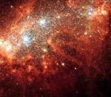 Nearby galaxy NGC 1569
