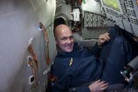 Andrè inside a Soyuz simulator. ESA - S. Corvaja, 2010