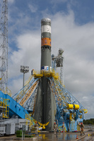 Soyuz on launch pad