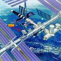 Position de  l'AMS sur la station spatiale